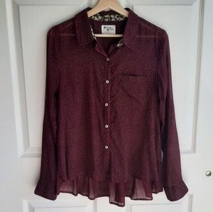 Holding Horses Arabel Button Down Shirt Top Size 4